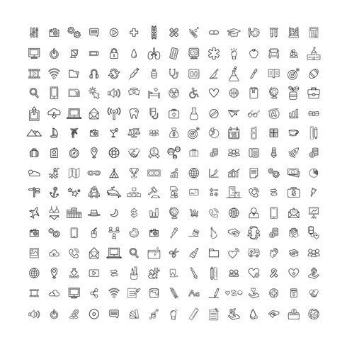 Mixed computer icons