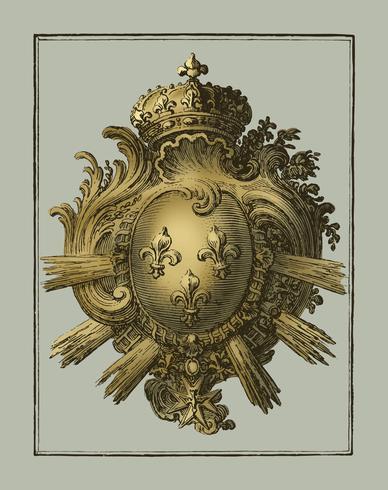 Braccio con tre gigli (1785 - 1833) di Jean Bernard (1775-1883). Originale dal Museo Rijks. Miglioramento digitale di rawpixel.