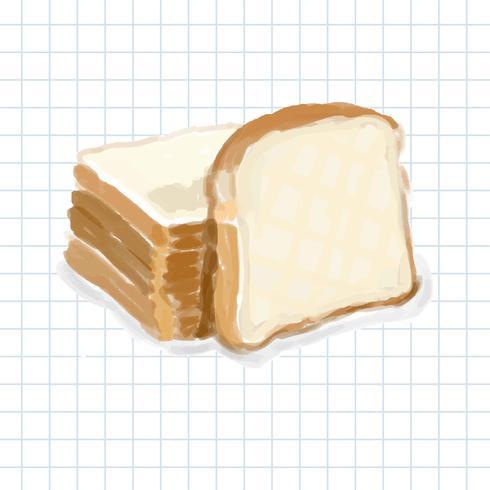 Handgezeichnete Brot Aquarell Stil