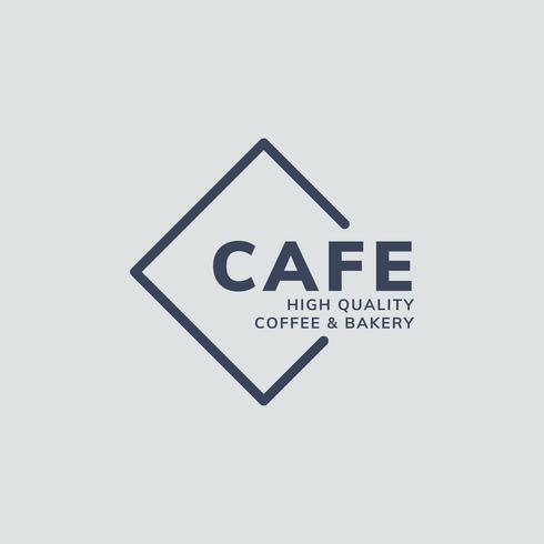 Logo café de haute qualité