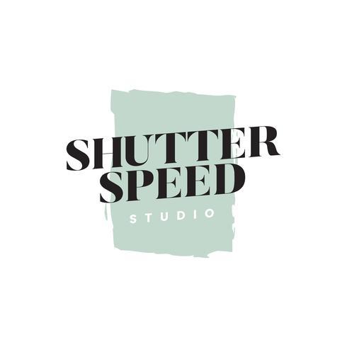 Vecteur de logo studio vitesse d'obturation
