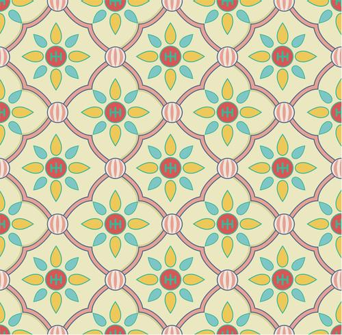 Vintage bloemenpatroon geïnspireerd door de grammatica van het ornament