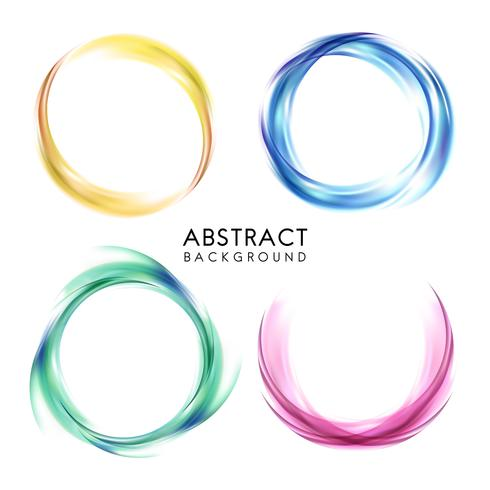 Set of colorful abstract background design