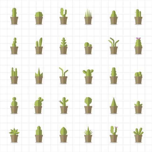 Sammlung von Pflanzen und Baumvektoren