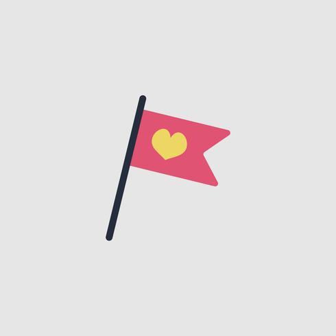 Illustrazione dell'icona della bandiera