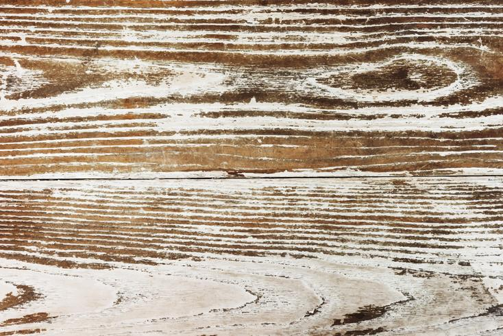 Close up of an old wooden floorboard