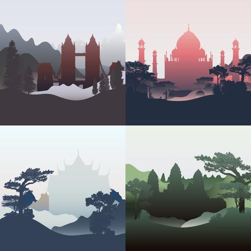 Samling av arkitektoniska landmärken vektor
