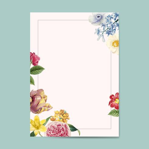 Espace de copie invitation floral blanc