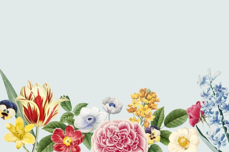 Espaço de cópia floral em branco