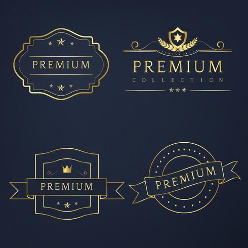 Ensemble de vecteur de badges premium