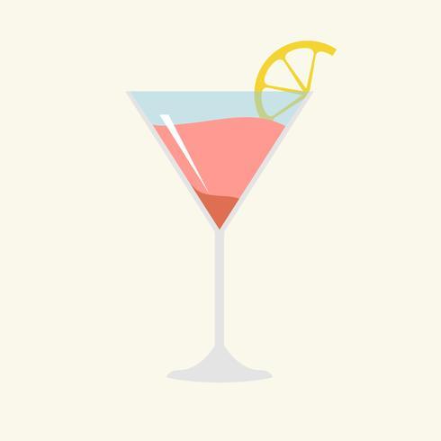 Illustration av en cocktail