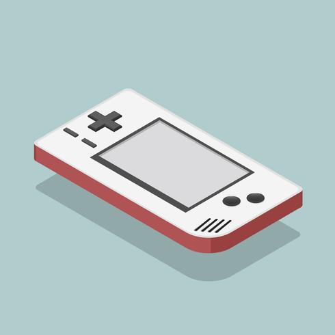 Vector icon of game player