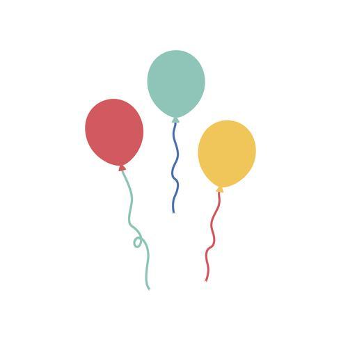 Illustration av festballonger