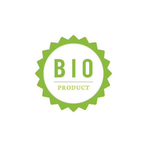 Bio product badge stamp illustration