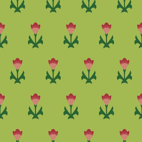 Vintage padrão floral inspirado na gramática do ornamento