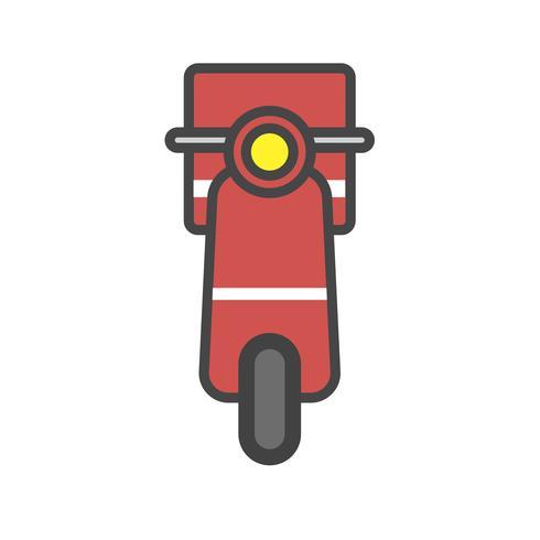 Illustration of motorbike icon
