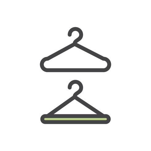 Illustration of clothes hangers