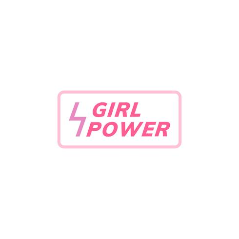 Flicka makt emblem emblem illustration