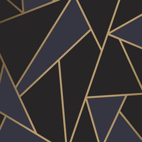 Papier peint mosaïque moderne en noir et or