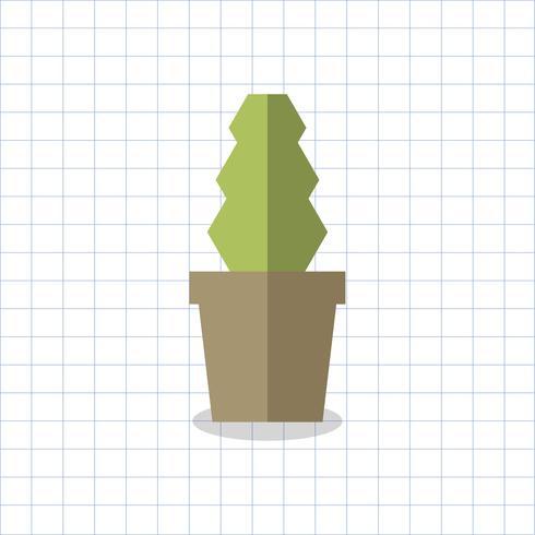 Abbildung eines Kaktus in einem Topf
