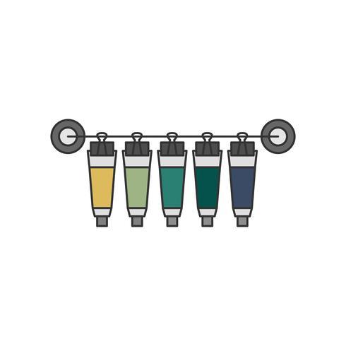 Sammlung von Aquarellfarben oder Acrylfarbstoffen