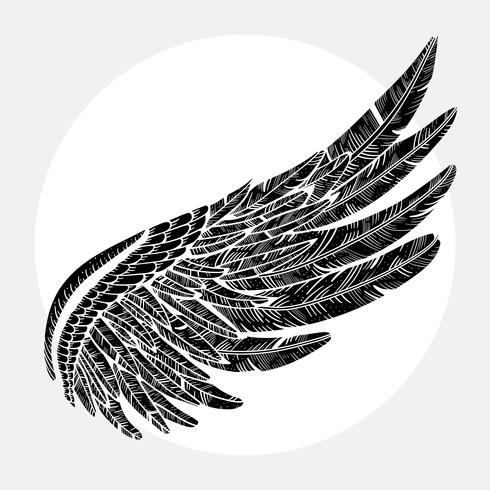 Vintage vektor vinge