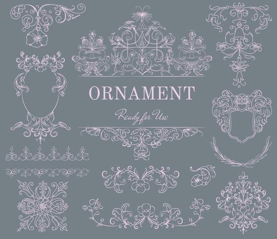 Ornement floral vintage