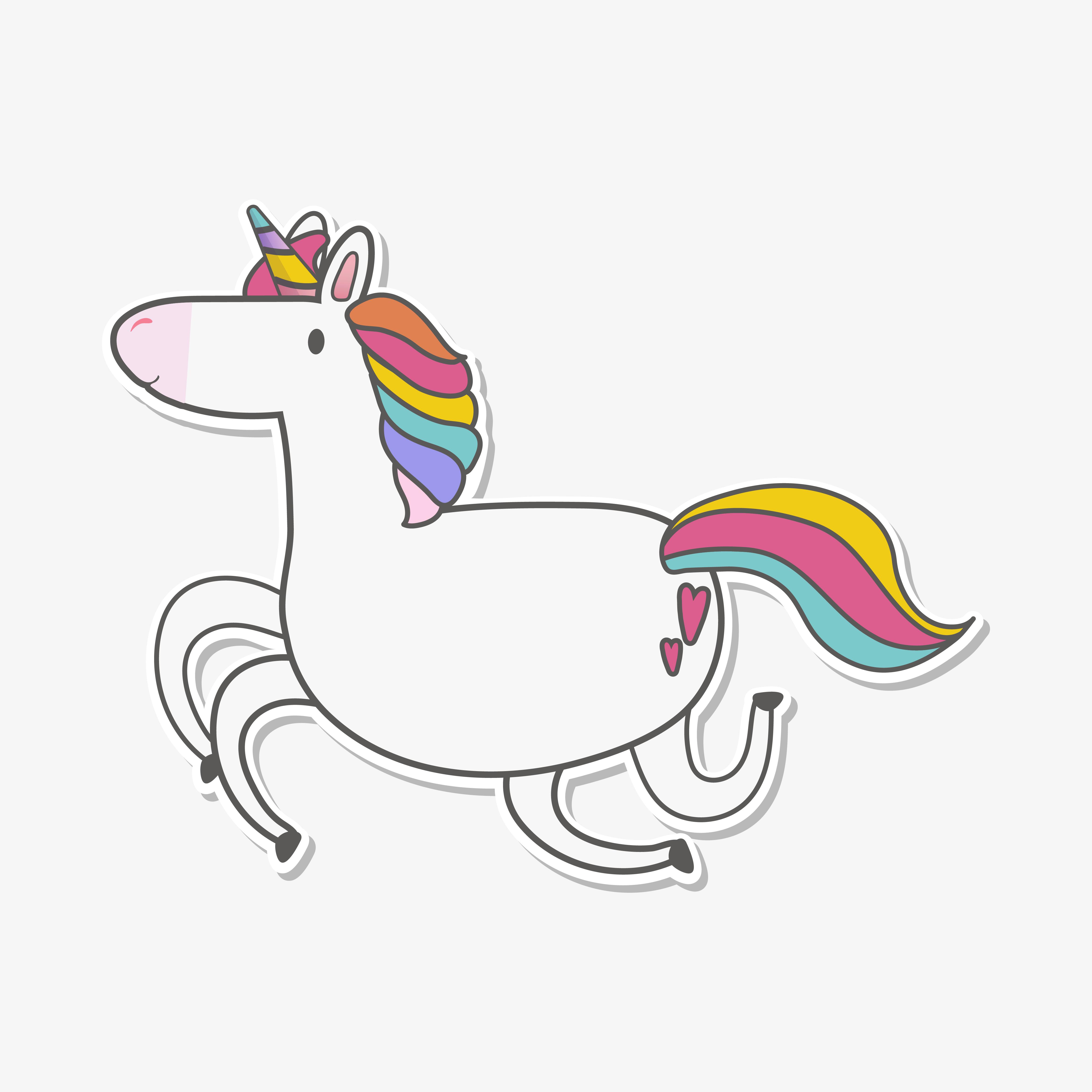 magical rainbow unicorn illustration vector  download