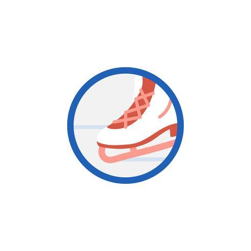 Ilustración del icono de patinaje sobre hielo