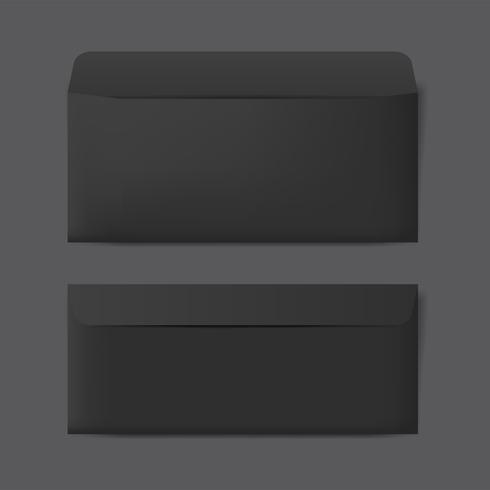 Paper envelope design mockup vector