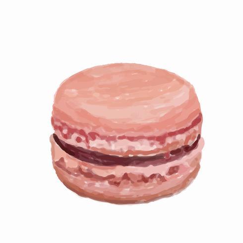 Handgezeichnete Macaron Aquarell-Stil