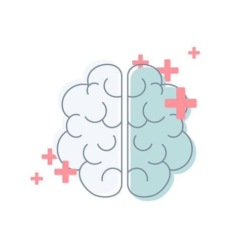 Saker av sinnet mental hälsa vektor