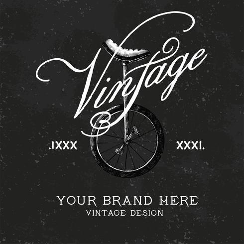 Vintage varumärkeslogotyp design vektor