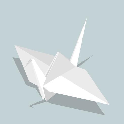 Vector of paper bird icon