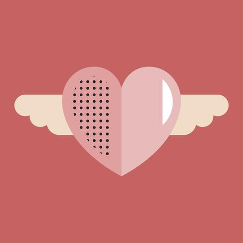 Concepto del símbolo del icono del amor del corazón del día de tarjetas del día de San Valentín