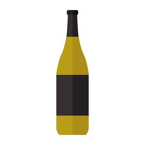 Semplice illustrazione di una bevanda in bottiglia
