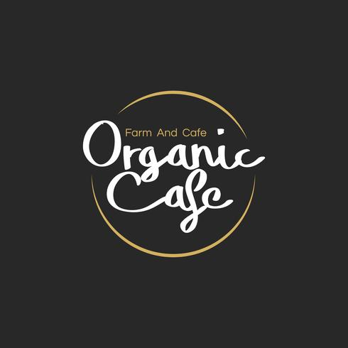 Illustration av organisk mat stämpel banner