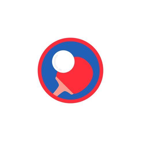 Ilustración del icono de tenis de mesa