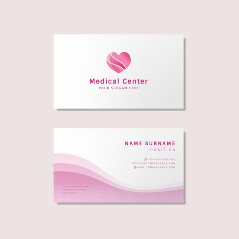 Medical professionale modello di progettazione biglietto da visita