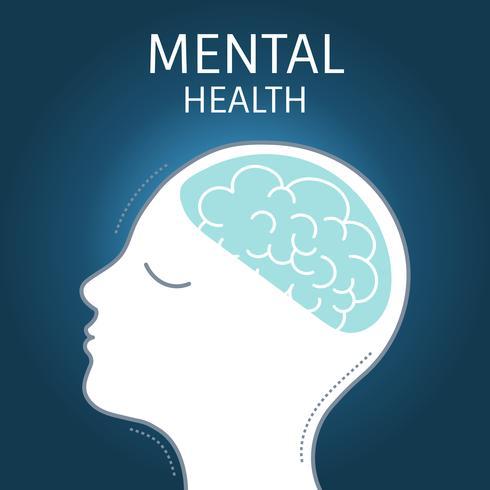 Vetor de ícone de conscientização de saúde mental