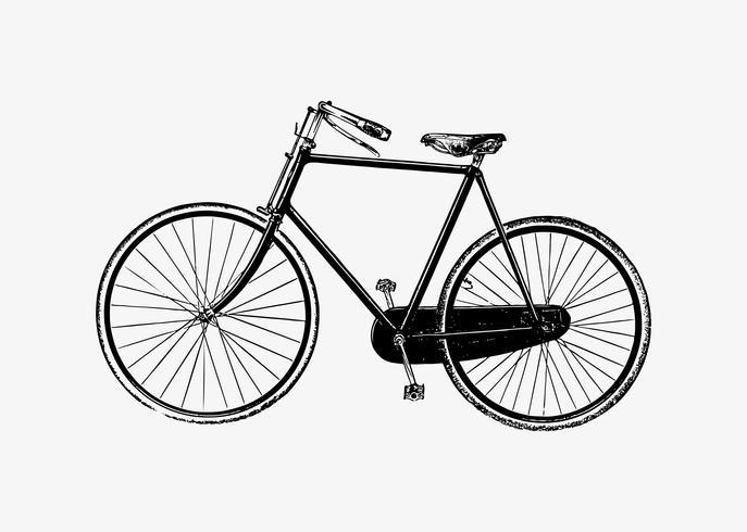 Fahrrad im Vintage-Stil