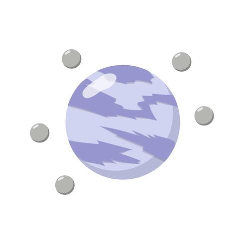 Vektor des Asteroiden