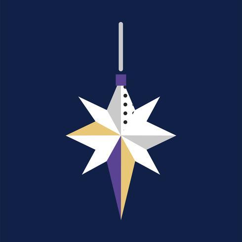 Concepto de evento de celebración de fuegos artificiales estrella