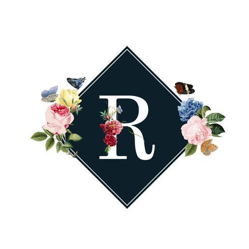 Illustrazione di carta floreale invito di nozze