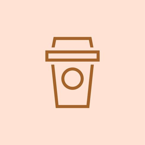 Take out coffee icon vector