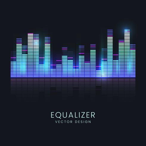 Färgrik ljudvåg equalizer vektor design