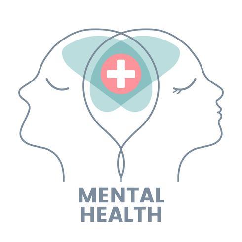 Vektor der Paartherapie geistige Gesundheit