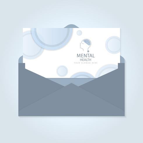 Mental health advertisement brochure vector