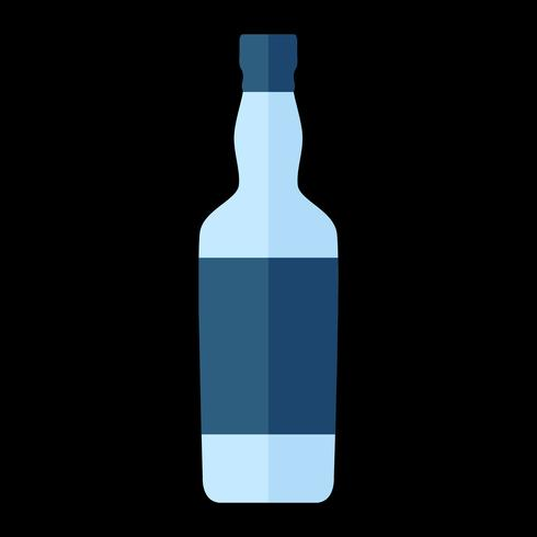 Liquor bottle vector