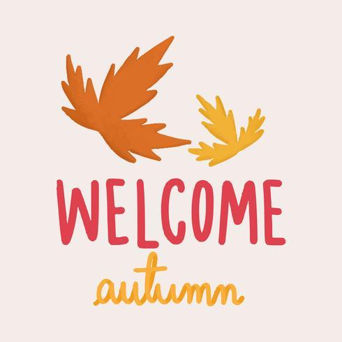 Bem-vindo outono temporada ilustração vector